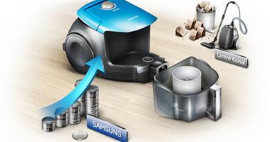 Aspirator-fara-sac-Samsung-VC15RHNDCNC,-2-l,-Tub-telescopic-metalic,-1500-W+cu+filtru+hepa