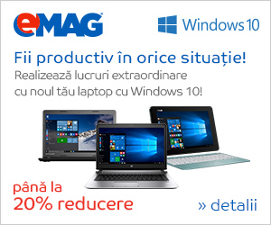 Promo emag Windows 10