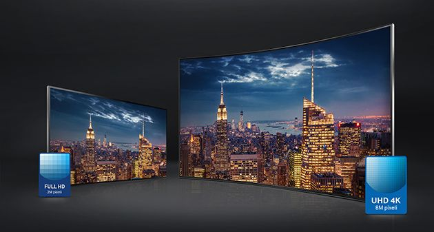 Televizor LED Smart Samsung, 121 cm, 48JU6400, 4K Ultra HD vs fullhd