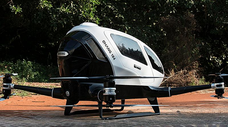 Prima drona cu un singur pasager din lume este in curs de testare de catre o companie chineza