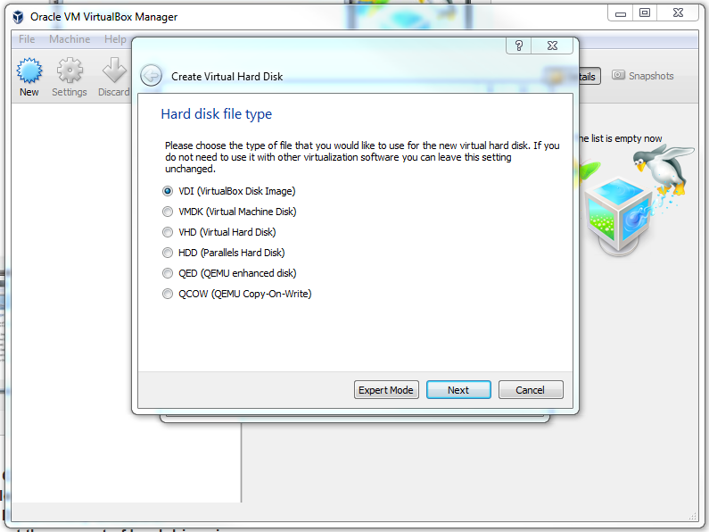 Instal-linux-windows-alege-Selecteaza VDI